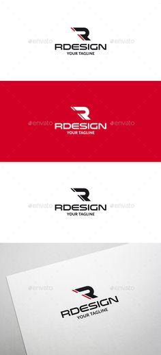 Rdesign R Letter Logo V2 — Vector EPS #rally #logo • Available here → https://graphicriver.net/item/rdesign-r-letter-logo-v2/6325662?ref=pxcr