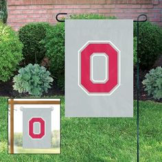 "OHIO STATE BUCKEYES ""O"" GARDEN WINDOW FLAGS"