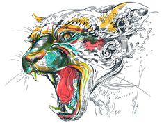 Jaguar!  #illustration #design #inspiration