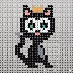 Fatelavnspynt i Hama perler Hama Beads Design, Hama Beads Patterns, Beading Patterns, Fuse Beads, Perler Beads, Beaded Animals, Cat Pattern, Cross Stitch Charts, Diy For Kids