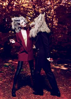 "AWI❤: Natalia Vodianova ""Into the Woods"" photographed by Mert Alas and Marcus Piggott f/September 2009/Vogue"