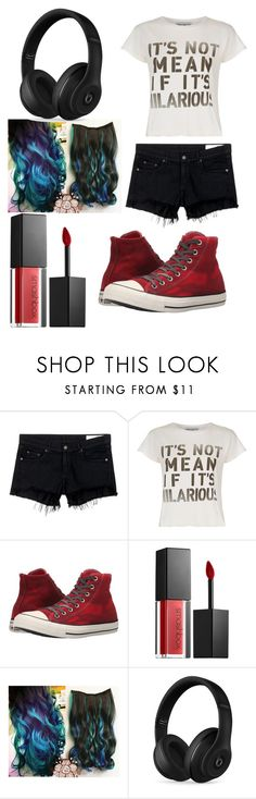 """average Teen"" by nialls-wife1 on Polyvore featuring rag & bone/JEAN, Wildfox, Converse, Smashbox and Beats by Dr. Dre"