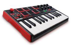 Buy your Akai MPK MINI MKII Compact Keyboard and Pad Controller from Sam Ash and receive the guaranteed lowest price. Easy Guitar, Guitar Tips, Usb, Ukulele, Drum Pad, Midi Keyboard, E Piano, Mini, Hardware