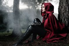 fantasy red cape photo shoot - Google Search