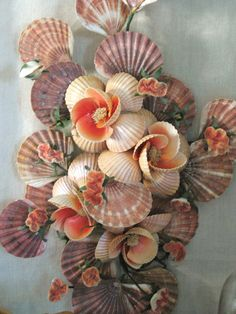 Vintage Sea Shell Wall Bouquet Cottage Life by wilshepherd on Etsy, $88.00