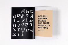 A book showcasing the design work undertaken during the Type, Time & Space workshop, given by Amandine Alessandra.