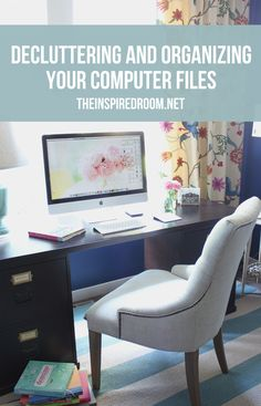 One of my big goals with organizing my home this year is to organize my computer too. Anyone who has lost treasured photos or important documents would tell you to take the necessary steps now to save yourself potential heartache or frustration down the road.  I'm sharing some tips that will inspire you to declutter your computer and organize your most important documents!