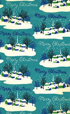 Vintage Christmas Wrapping Paper by texassurlymonkey, via Flickr