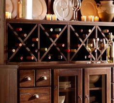 Love the dark wood and storage under the wine.  Pottery Barn only 199.00