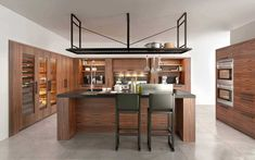 Find out all of the information about the TONCELLI product: contemporary kitchen / wooden / island / handleless NANTIA . Interior Garden, Kitchen Interior, Interior Design, Beach House Kitchens, Cool Kitchens, Stone Kitchen, Kitchen Dining, Classic Kitchen, Nice Kitchen