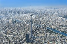 "TOKYO SKYTREE, at 634 meters high, is the world's tallest free-standing broadcasting tower. The TEMBO DECK, located 350 meters above ground, commands a panoramic view of the Kanto region, and even Mt. Fuji in the distance when the sky is clear. At night, the tower is illuminated alternately in the beautiful pale blue ""Iki"" and violet ""Miyabi"" themes. Tokyo Solamachi, the neighboring commercial complex, is home to more than 300 establishments including a planetarium, an aquarium, and shops…"