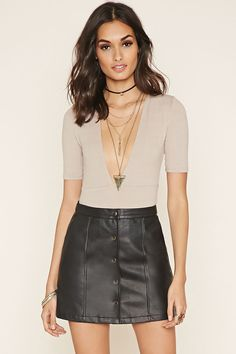 Faux Leather Mini Skirt | Forever 21 Canada