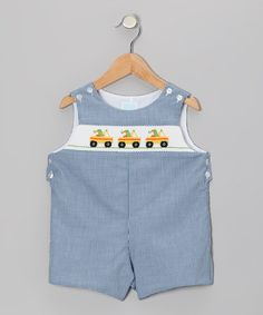 Take a look at this Blue Gingham Truck John Johns - Infant & Toddler by Betti Terrell on #zulily today!