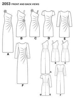 Выкройка платья с драпировкой. фото