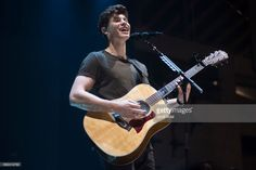 Shawn Mendes performs on stage during his Illuminate World Tour at Palau Sant Jordi on May 12, 2017 in Barcelona, Spain.
