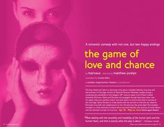 Canadian Stage 11.12 Season Brochure, The Game of Love and Chance.