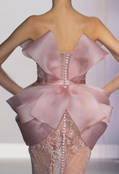 Romantic Pastel Flora #Bow Trend Ralph & RussoSpring Summer 2014 #couture #fashion