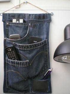 Multi pocket denim upcycle