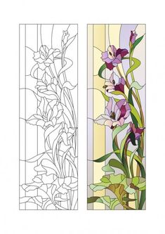 Glass Painting Patterns, Stained Glass Patterns Free, Stained Glass Quilt, Glass Painting Designs, Stained Glass Flowers, Faux Stained Glass, Stained Glass Designs, Stained Glass Panels, Stained Glass Projects