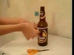 Yahoo! Video Detail for How To Cut Glass Bottles With String