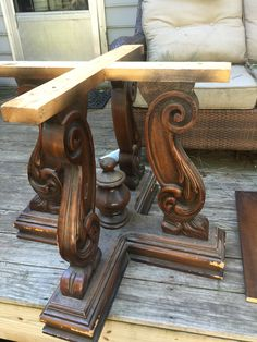 Table pedestal for my dining table project Dining Tables, Entryway Tables, Pallet Projects, Projects To Try, Box Bed, Decoration, Woodworking, Carving, Sofa