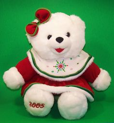 Dan Dee Dandee White Snowflake Teddy Bear Girl 2005 Large