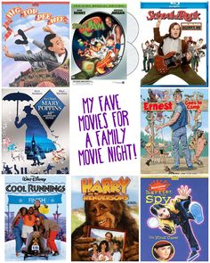 Great list of kid-friendly movies that are perfect for family movie night. Lots of great ideas!