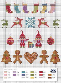 El blog de Dmc: Diagramas de punto de cruz navideños