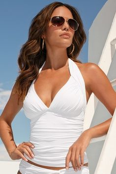Bathing suit 2014/Halter tankini top // swim2014.  Love this one!!!