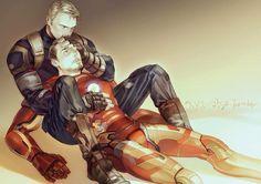 Steve Rogers/Tony Stark - end of the Civil War? Stony Avengers, Superfamily Avengers, Stony Superfamily, Spideypool, Marvel Avengers, Marvel Heroes, Mcu Marvel, Marvel Comic Universe, Marvel Art