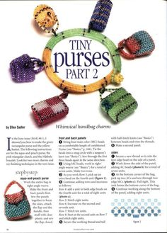 Tiny Purses part 2 Beaded Boxes, Beaded Purses, Beaded Jewelry, Handmade Jewelry, Beaded Bracelets, Jewellery, Peyote Patterns, Beading Patterns, Jewelry Patterns