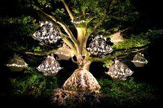 ...in luftiger Höhe und dramatisch illuminiert einen ganz neuen Kontext - und...