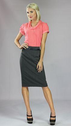 Modest Skirts: Basic Pencil Skirt in Grey