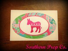 Preppy Democrat Bumper Sticker.  WANT.