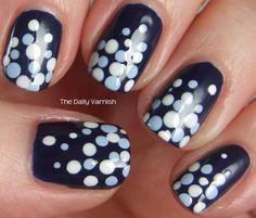 Nail Art Polka Dot Fade 2