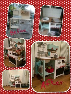 Work in progress play kitchen