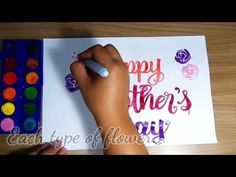 A Happy Mother's Day! Happy Mother's Day Greeting Made with: -Paper One ProDIGI -Dong-A Watercol. Happy Mother's Day Greetings, Happy Mothers Day, Channel, Arts And Crafts, Make It Yourself, Paper, Youtube, Fun, Mother's Day