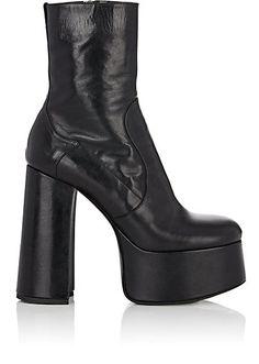 25627c4cf5c Saint Laurent Billy Leather Platform Ankle Boots - Boots - 505752716  Platform Ankle Boots