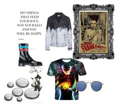 """""""I' m not dead (yet)"""" by laura-ersek ❤ liked on Polyvore featuring Faith Connexion, Dolce&Gabbana, Raf Simons, Barton Perreira, men's fashion and menswear"""