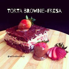 .@Wilfredo Ulacio | Torta Brownie-Fresa Para el brownie: • 1/4 de taza de cacao • 1/2 taza de le... | Webstagram - the best Instagram viewer