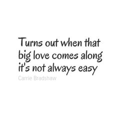 Big Love - Mr Big and Carrie