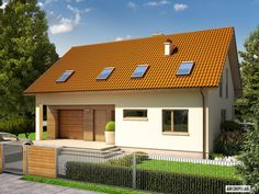 Projekt domu (wersja B) economic - koszt budowy - EXTRADOM Ideas Para, House Plans, Pergola, Garage Doors, Shed, Outdoor Structures, Outdoor Decor, Home Decor, Houses