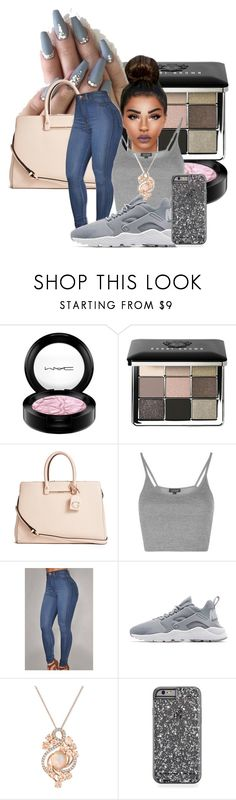 """""""Untitled #38"""" by zariaaxo ❤ liked on Polyvore featuring MAC Cosmetics, Bobbi Brown Cosmetics, GUESS, Topshop, NIKE and LE VIAN"""