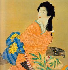 . Japanese Modern, Japanese Prints, Japanese Lady, Oriental, Geisha Art, Bonsai Art, Japanese Painting, Japan Art, Chinese Art