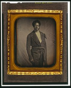 Chancy Brown, Sergeant at Arms for the Liberian Senate. Daguerreotype, c, 1856-1860. (Library of Congress)