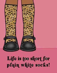 leopard socks are always a good choice!