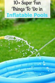 Have fun beyond swimming with these things to do in inflatable pools. Play a game of S.K, Hot Potato Splash, or one of the other pool games!