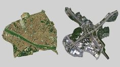City for people vs infrastructure for cars. Florence and a highway interchange in Atlanta.  Same scale.