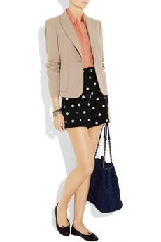 Blazer + polka dots