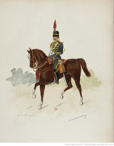 British;4th Queen's Own Hussars, Officer , c.1890 by Charles Conroy